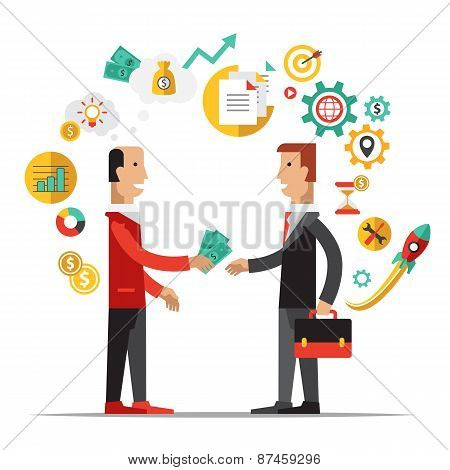 Business Metaphors, Handshake ,Investment, Partner