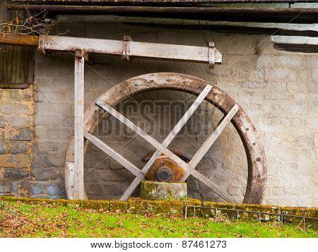 Old mill water wheel