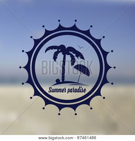 Logo of summer beach, summer paradise, place for rest, hotel.