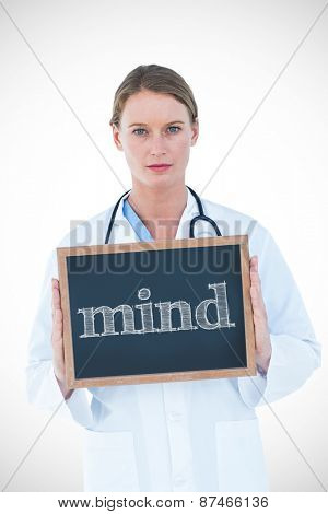 The word mind against doctor showing chalkboard