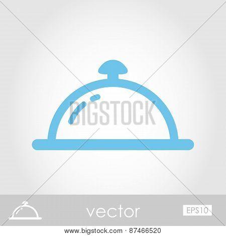 Restaurant Cloche Vector Icon