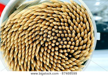 Macro Wooden Toothpicks