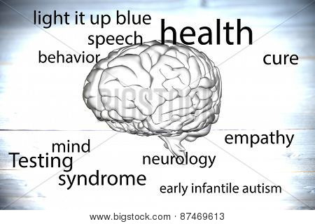 autism terms against grey vignette