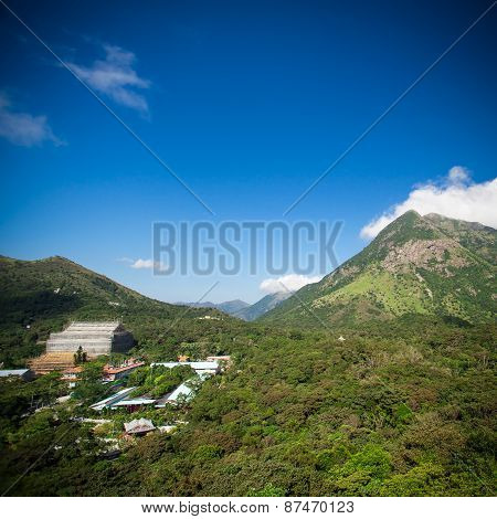 Mountains View With Blue Sky