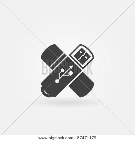 USB Flash icon or logo