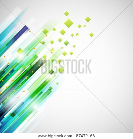 Abstract Technology Geometric Left Oriented Corner