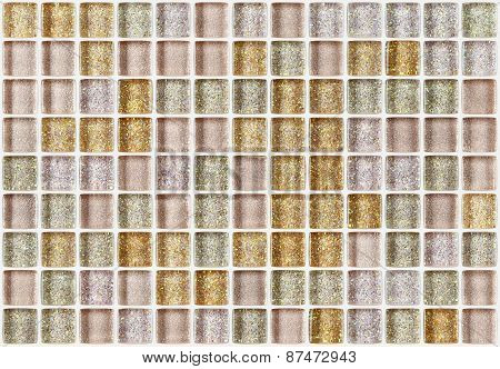 tile mosaic square decorated glitter golden texture