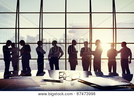 Business People Conference Meeting Boardroom Working Conversation Concept