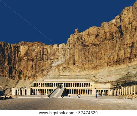 Egypt. Luxor. Deir el-Bahari (or Deir el-Bahri). The Mortuary Temple of Hatshepsut - general view