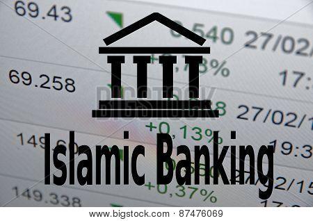 Islamic finance concept.