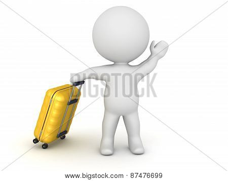 3D Character Traveling with Trolley