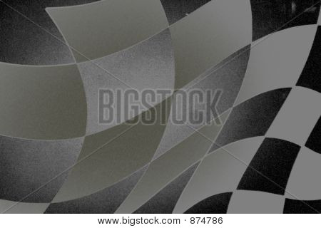 Charcoal Texture Checkered Flag