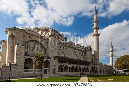 Exterior of  Suleymaniye mosque,  Istanbul