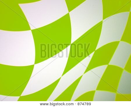 Green Checkered Racing Flag