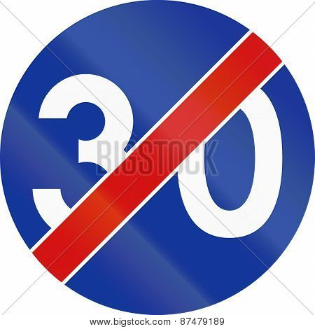 End Of Minimum Speed 30 In Poland