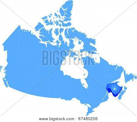 Map Of Canada - New Brunswick Province