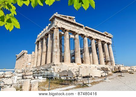 Parthenon in Acropolis at spring, Athens, Greece