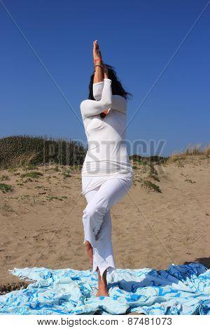 Eagle Yoga Posture