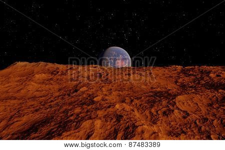 Mars Scientific illustration