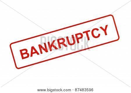 BANKRUPTCY Stamp In Red