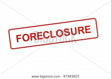 FORECLOSURE Stamp In Red