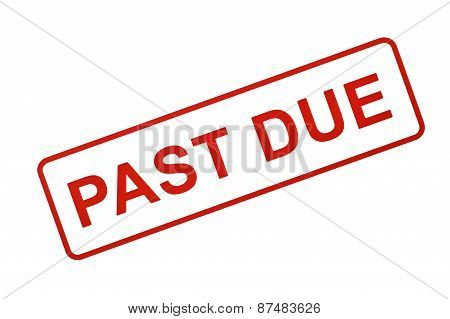 PAST DUE Stamp In Red