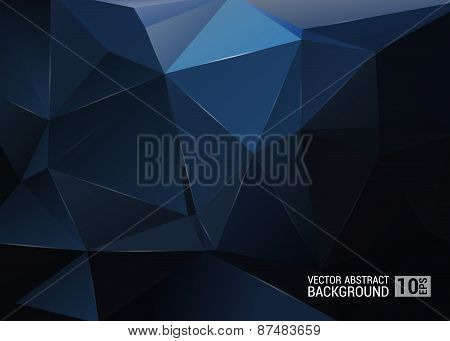 Geometric Pattern, Triangles Vector Background In Black And Gray Tones.