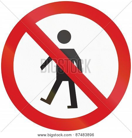 No Pedestrians In Argentina
