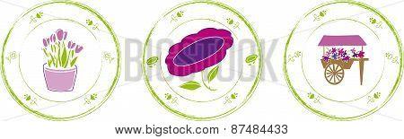 Stamp flower
