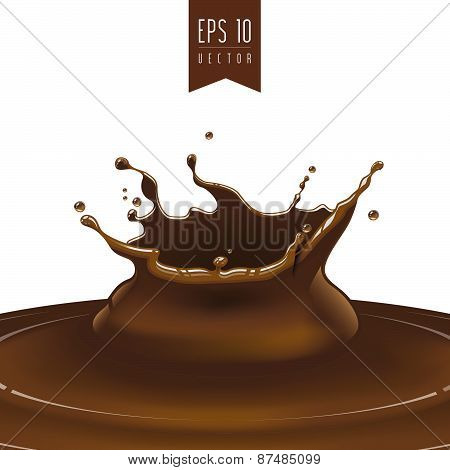 Splash of dark coffee or chocolate vector