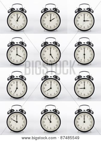 Alarm Clock Collage.