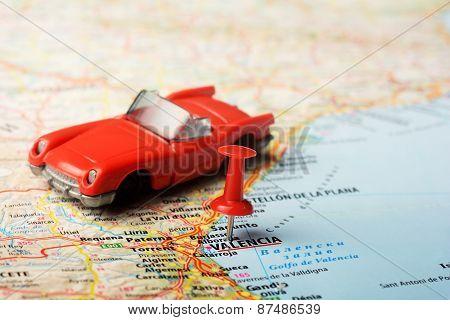Valencia  ,spain Map Cabrio