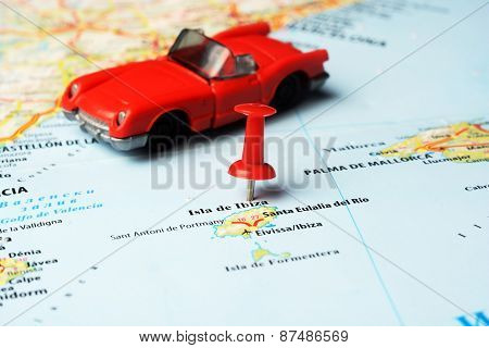 Ibiza   Island ,spain Map Auto