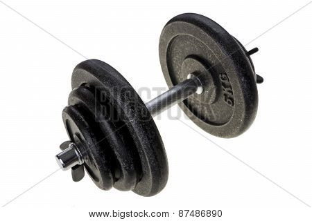 Black Heavy Dumbbell