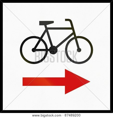 Direction Change Of Regional Cycle Route In Poland