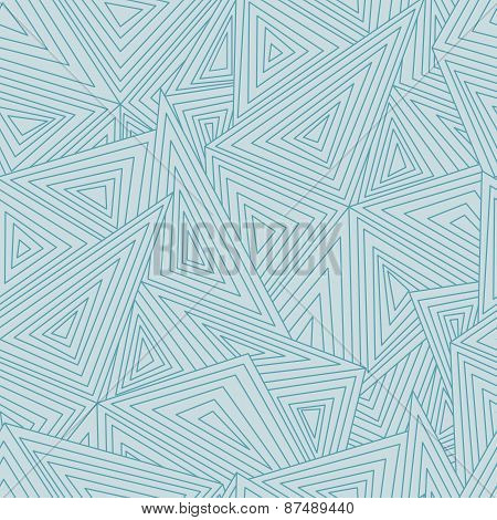 Abstract geometric seamless pattern. Triangles and lines background.