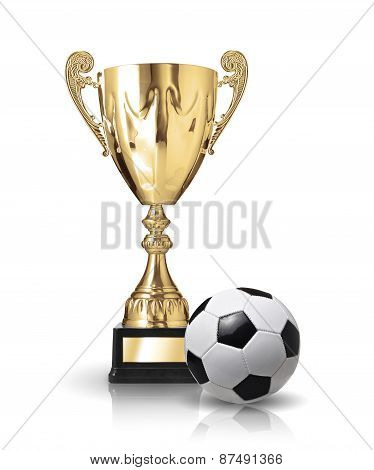 Trophy And Ball