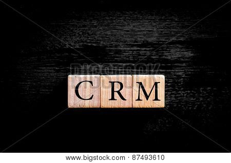 Acronym Crm - Customer Relationship Management Isolated With Copy Space