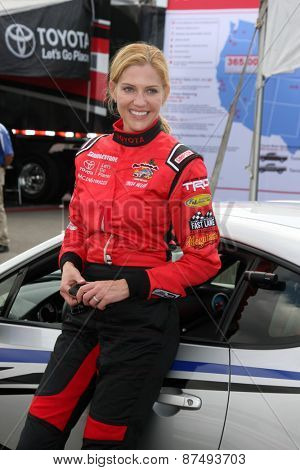 LOS ANGELES - FEB 7:  Tricia Helfer at the Toyota Grand Prix of Long Beach Pro/Celebrity Race Press Day at the Grand Prix Compound on FEB 7, 2015 in Long Beach, CA