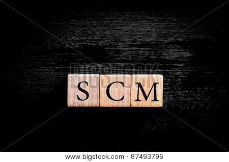 Acronym Scm -  Supply Chain Management Isolated With Copy Space