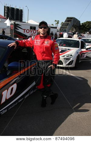 LOS ANGELES - FEB 7:  Nathan Kress at the Toyota Grand Prix of Long Beach Pro/Celebrity Race Press Day at the Grand Prix Compound on FEB 7, 2015 in Long Beach, CA