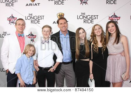 LOS ANGELES - FEB 6:  Nicholas Sparks, his children, and friends at the