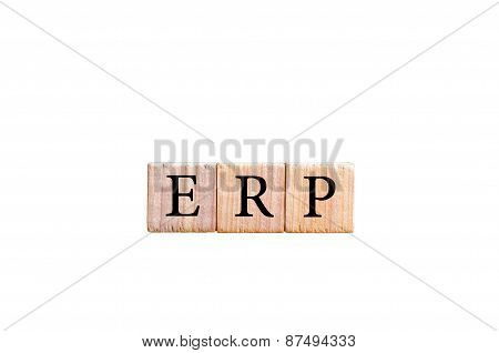 Acronym Erp- Enterprise Resource Planning Isolated With Copy Space
