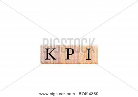 Acronym Kpi - Key Performance Indicator Isolated With Copy Space