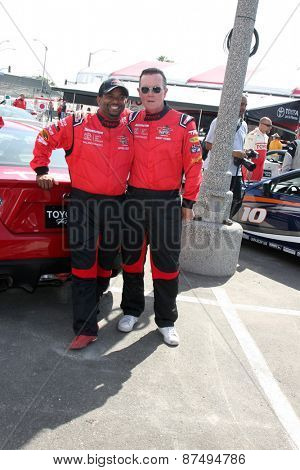 LOS ANGELES - FEB 7:  Alfonso Ribeiro, Robert Patrick at the Toyota Grand Prix of Long Beach Pro/Celebrity Race Press Day at the Grand Prix Compound on FEB 7, 2015 in Long Beach, CA