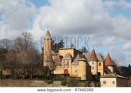 Castle of Jarnioux in Beaujolais