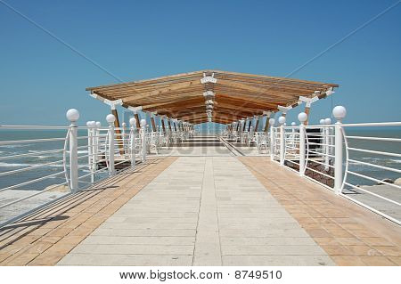 Summer day on beach dock