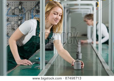 Female Assembly Line Workers