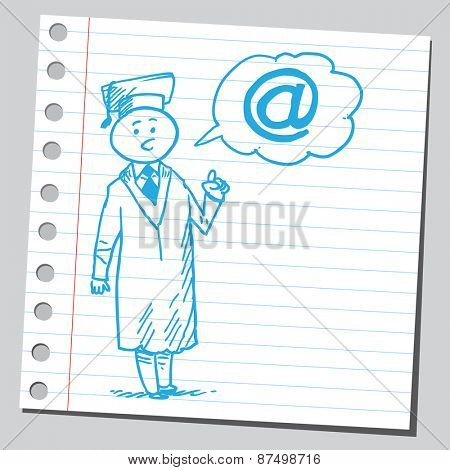 Graduate student speaking e-mail sign