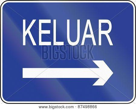 Exit Sign In Brunei